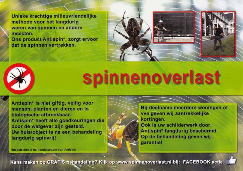 Spinnen overlast bestrijding spinnenverwijderaar